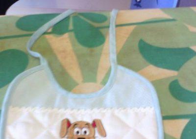 bordado personalizado bebe perro