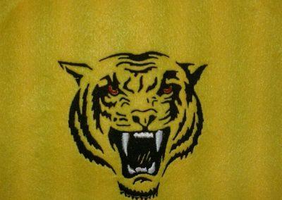bordado cabeza tigre
