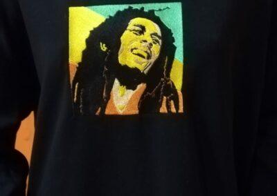 bob marley camiseta