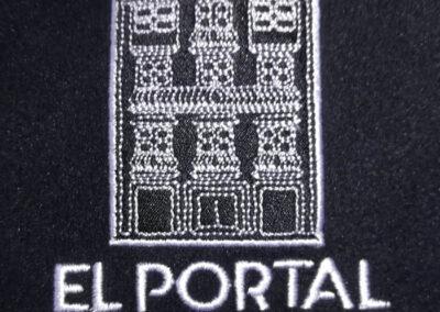 El portal residencia universitaria bordado en jersey